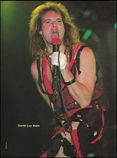 David Lee Roth (Van Halen) 1984 live onstage 8 x 11 pinup photo