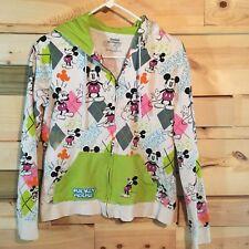 Disney Kids Large Mickey And Minnie Multi Color Argyle Hoodie