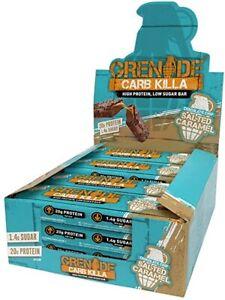 GRENADE CARB KILLA BAR 3 / 6 / 12 x 60g CHOCOLATE CHIP SALTED CARAMEL BEST PRICE