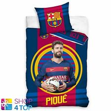 FC BARCELONA PIQUE SINGLE DUVET COVER PILLOW CASE FOOTBALL SOCCER CLUB TEAM NEW