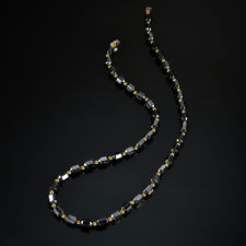 Men Women Black Hematite Magnet Gold Beads Magnetic Therapy Care Necklaces Gift