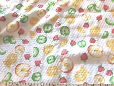 "NEW 3 yards by 44"" apples oranges strawberry fabric material sewing seersucker"