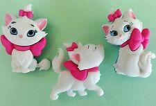 MARIE - Disney Aristocats Turkish Angora Cat Kitten Dress It Up Craft Buttons