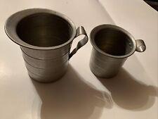 Vintage Metal Dura-Ware Aluminum Measuring Cups w/ Handle Set Of 2