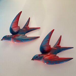 RARE Vintage FORMALDA WARE Bakelite ART Deco WALL Flying SWALLOWS Hanging BIRDS