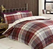 Lomond Super King Duvet Set 100% Brushed Cotton Flanelette Red