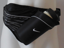 NIKE Lightweight Running Hydration WaistPack W/1 Bottle 16oz. Black/White/Silver