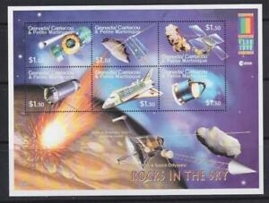 GRENADA CARRIACOU MARTINIQUE  2000 SPACE  STAMPS ROCKS IN THE SKY SS MNH - SP183