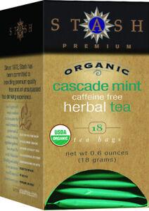 Cascade Mint Herbal Tea by Stash, 18 tea bag Organic