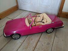 Vintage 90s Barbie Doll Hot Pink Jaguar XJS V12 Sports Car