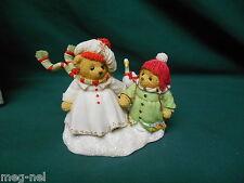 Cherished Teddies Margaret & Sharon / Goose White Christmas Series  Bears