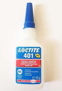 Loctite 401 x 50g For Bonding Rubber & Plastics Genuine EU Style (Improved 406)