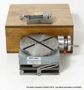 """4"""" Machining DOUBLE ANGLE ROTARY TABLE 4x4 from EDTTCO MFG CO +  VISE & BOX"""