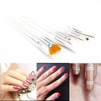 15 Pcs Nail Art Acrylic UV Gel Design Brush Set Painting Pen Tips Tools kit New