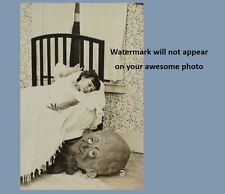 Scary Vintage Creepy Monster Child Scare PHOTO Costume Bedroom Goblin Halloween