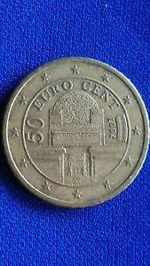 Moneta 50 centesimi di Euro 2002 AUSTRIA Eurocent Palazzo Secessione di Vienna