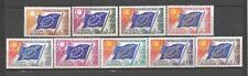 France 1963 timbres de service Yvert  n° 27 à 35 neuf ** 1er choix