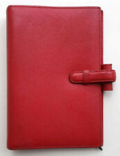Filofax Portobello Personal Organiser Italian Leather, Timer Echtleder Chili Rot