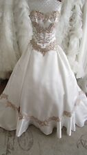 Sophia Tolli Ivory/ antique gold wedding dress Us zie 6 / UK size 8/10