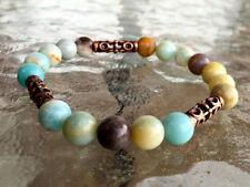 Amazonite Wrist Mala, Yoga Bracelet, Chakra Balancing Bracelet, Meditation Mala,