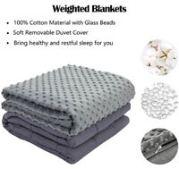 Weighted Blanket Cover ANXIETY REDUCE Cotton Gravity Sensory Relief UK