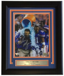 Urban Meyer Signed Florida Gators 11x14 Custom Framed Photo Display (Fanatics)