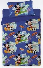 Topolino Disney Parure Lenzuolo Federa 1 Piazza microfibra Blu con stampe