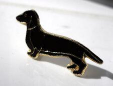 ZP133 Dachshund enamel pin badge Sausage dog