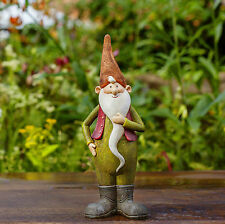 Monty the Traditional Cheerful Garden Gnome Figurine Statue Ornament