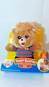 Teddy Ruxpin Hug 'N Sing Plush with Sound Best Friend Style Teddy Bear plush