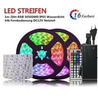 1M 5M 10M 20M LED Band Streifen Licht 5050 SMD RGB Stripe Wasserdicht Lichtband