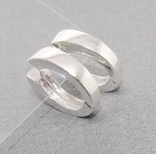 Klapp-Creolen Damen Ohrringe spitz-oval 925 Sterling Silber poliert + Etui