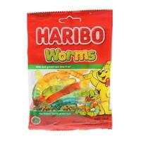 HARIBO Worms Gelatin Mix Fruit Chewy Candy Dessert Kid Gift Party Worm Shape 80g