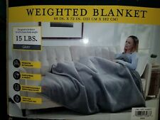 """Pendleton 15 lb Weighted Blanket 48"""" x 72"""", Gray"""