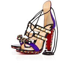 Womens Christian Louboutin Tudor Sandal SZ 39 EU Purple Pop 3161015 NEW LIMITED