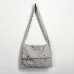 Chinese Buddhist Cotton Linen Crossbody Bags Zen Monk Meditation Shoulder Bag