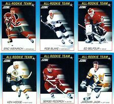 "1991-92 SCORE NHL ""ALL-ROOKIE TEAM"" 6 CARD SET"