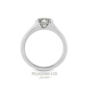 1/2ct H SI1 Round Natural Certified Diamond 14kw Gold Solitaire Engagement Ring