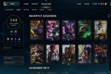 League Of Legends Account EuW - Silver 2, 144 Skins, 10 Gemstones, 139 Champions