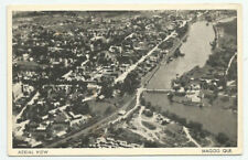 Magog Quebec Aerial View Postcard River City Downtown Canada Vintage Unposted