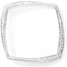 NWT Brighton BILBAO SQUARE Bangle Bracelet Silver Crystals MSRP $46