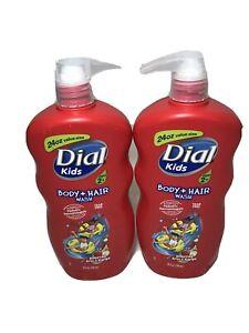 Dial Kids Body & Hair Wash Bursting Apple Rapids 24 oz. Tear Free Ages 2+