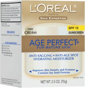 L'Oreal Paris Age Perfect Facial Day Cream SPF 15 new box FRESH