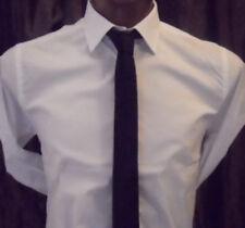 cravatta nera stretta cravattino nero fine 5 cm leggermente lucido buon prodotto