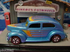 2012 Hot Ones FAT FENDERED '40 Ford 1940∞BLUE∞Redline CHASE∞New Loose HotWheels