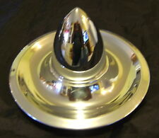 "Chevy Rally Chrome BULLET TOP Hub Caps with 3-1/2"" Tall bullets ( 4 ) VERY COOL"