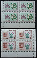 Timbre / Stamp CANADA - Yvert et Tellier n°347 x4 et 348 x4 n** (cyn7)