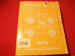 ORIGINAL FACTORY MANUAL SET JEEP CHEROKEE/WAGONEER WORKSHOP & BODY M.R.244 & 247