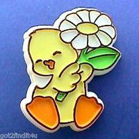 Hallmark PIN Easter Vintage DUCK DAISY FLOWER Holiday Brooch