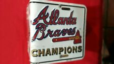 Atlanta Braves 1995 World Series License Plate Bird House Hand Crafted